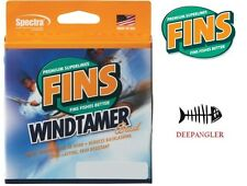 Fins Windtamer Braid Fish Line 20 LB 1500 Yards, YELLOW Fishing Line, USA Made