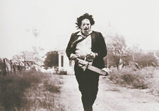 Framed Print - Leatherface with Chainsaw Texas Chainsaw Massacre 1974 (Picture)