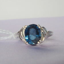3.06ct London Blue Topaz Sterling Silver Ring
