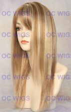 Light Blonde Mix Long Layered Flat Straight Synthetic Wig Jewel in F27/613