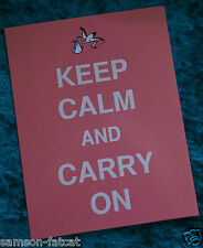 Keep Calm and Carry On new baby announcement stork slogan postcard print