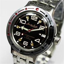 MEN'S WRIST WATCH DIVING, RUSSIA, VOSTOK  AMPHIBIAN, MECHANICAL #420335 NEW