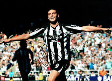 Andy CARROLL Signed Autograph HUGH Newcastle United Goal Classic Photo AFTAL COA