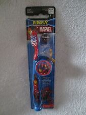 Firefly Marvel Heroes Boy Toothbrush with Cap Soft Blue Travel Kit New