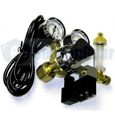 Milwaukee MA957 CO2 Regulator, 115V Solenoid, Bubble Counter, + 10 ft CO2 Tubing