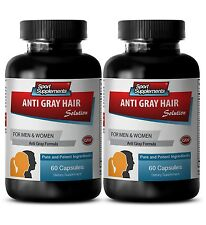 Saw Palmetto - Gray Hair Solution 1500mg - Prevent Scaly Scalp Pills 2B