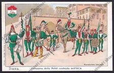 SIENA CITTÀ 51 PALIO Contrada dell'Oca COSTUMI Cartolina 1900