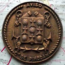 Old French Africa Colony Navy Metal Plaque Tampion Crest : Aviso Cdt Pimodan