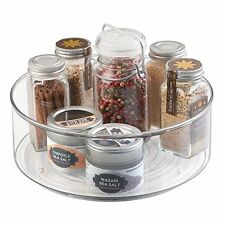 mDesign Lazy Susan Turntable Spice Organizer Bin for Kitchen Pantry, Cabinet,...