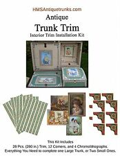 Antique Trunk Interior Trim Kit Complete Set of Reproduction Trim Style #2
