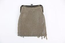 Whiting & Davis Vintage Gold Mesh Purse Handbag Evening Bag