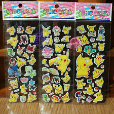 3pcs Lot Pokemon Stickers Pikachu Pocket Monster Scrapbooking Sticker Sheet New