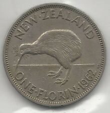 New Zealand, 1962, Florin, Copper Nickel, Km#28.2, Extra Fine
