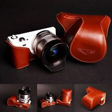 Handmade Vintage Brown Full Leather Case for Sony NEX5N