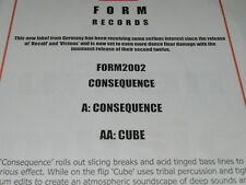 "Consequence - Consequence / Cube NEW 12""  Form Records FORM2002"