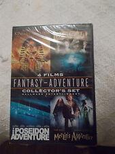 BRAND NEW FACTORY SEALED DVD 4 MOVIES FANTASY POSEIDON, BLACKBEARD, MERLIN'S APP