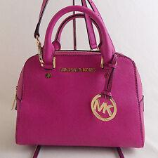 Michael Kors *DEFECT* Fuchsia Saffiano Small Travel Satchel Handbag $228 E03