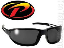 Pacific Coast PIPE Smoke Lenses Black Sunglasses Motorcycle With Pouch