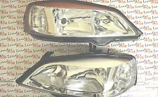 Vauxhall ASTRA G Mk4 PAIR OF HEADLIGHTS HEADLAMPS - CHROME STYLE - NEW