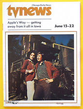Lee McCain Ronny Cox APPLE'S WAY Chicago Daily News TV News guide June 15 1974