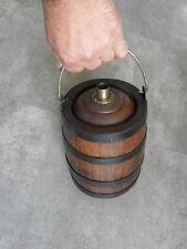 antique huge Gourd shape wooden jug PITCHER Burgundy bottle campaign country old