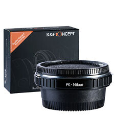 K&F Optical Glass Pentax PK K Lens To Nikon AI AF F Camera Mount Adapter Ring