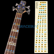 4 String Guitar Bass Fretboard Fret Notes Sticker Neck Learning Note Maker Decal
