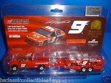 Kasey Kahne 1:64 Scale Stock Car, Crew Cab & Open Trailer 2004 Refresh - Limited