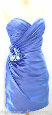 Allure Bridal couture pleated strapless cocktail blue sexy Dress Bridesmaid 12
