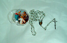 HOLY FAMILY Box w/Holy Family ROSARY Inexpensive Catholic NEW Case Mary Jesus