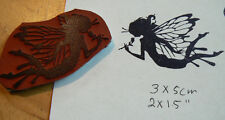 P64  Cling Mounted butterfly fairy rubber stamp