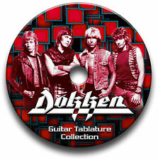 DOKKEN HEAVY METAL ROCK GITARRE ETIKETTEN TABLATURE LIED BUCH SOFTWARE CD