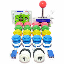 2 Player Arcade Kit De Control - 2 bola superior Joysticks + 18 Botones-Mame, Jamma