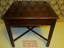 Drexel End Table Carleton Cherry Chipendale Square Pull Out Ledge for Tea