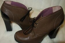 Studio Pollini Shoes - Dark Brown Leather Ankle Bootie sz 40 new