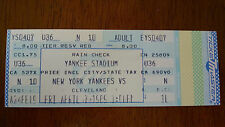 TICKET STUB FROM 1989 INDIANS AT YANKEES OPENING DAY