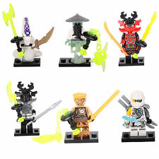 Ninjago NINJA Yang Pythor General Zane Building Bricks 6 Mini figures Toys lEGO
