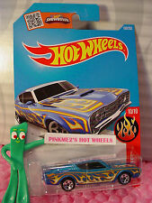 Case G/H 2016 i Hot Wheels '69 MERCURY CYCLONE  #100✰Candy Blue;5sp✰Flames✰1:64