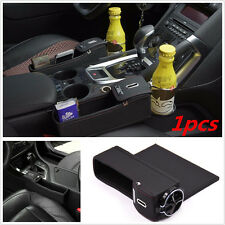Black PU Car Auto Seat Storage Box Catcher Gap Filler Coin Collector Cup Holder