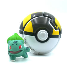 Pokeball with Pokemon Figure Toys 2 inch Bulbasaur Great Ball
