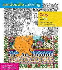 Adult Coloring Book Cozy Cats : Fantastic Felines to Color and Display NEW