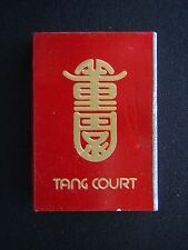 TANG COURT THE DYNASTY HOTEL 7349900 MATCHBOX