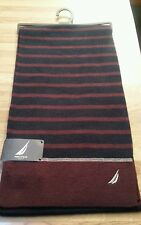 NEW Men's Nautica Blue/Red Stripe Scarf MSRP $55 NWT