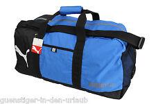 PUMA Foundation Sporttasche Tasche Reisetasche Fitnesstasche blau schwarz NEU