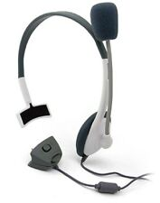NEW WHITE HEADSET HEADPHONE MICROPHONE FOR XBOX 360 LIVE CHAT UK