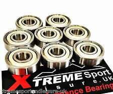 *8 Pack CLASSIC 608 STAINLESS STEEL RUSTPROOF BEARINGS SKATEBOARD SCOOTER