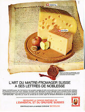 PUBLICITE ADVERTISING 094  1965  SWITZELAND fromage emmenthal LETTRES DE NOBLESS