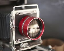 Buhl 200mm f/3.2 projection lens in board for Graflex Speed Graphic Aero Ektar