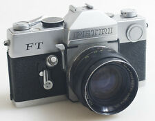 PETRI FT 35MM FILM SLR CAMERA WITH 55MM F/1.8 LENS FOR PARTS