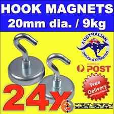 24X Magnetic Hooks Holders 20mm for Christmas Lights 9kg each